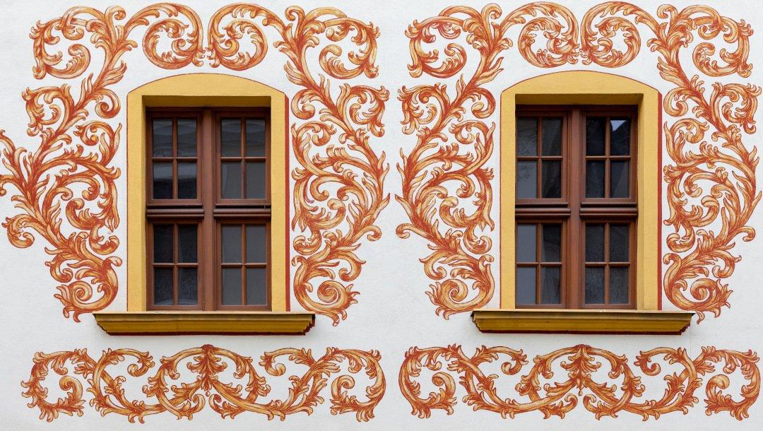 okna drewniane - fasada